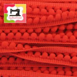 Fita mini-pompons vermelho