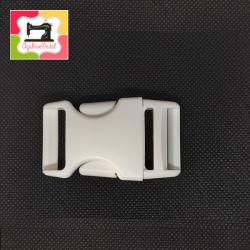 Fechos clic-clac 20mm  branco