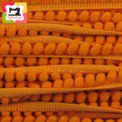 Fita mini-pompons laranja