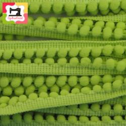 Fita mini-pompons verde alface